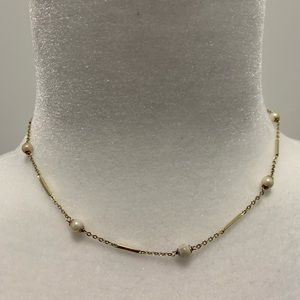 14k Gold and Pearl Choker